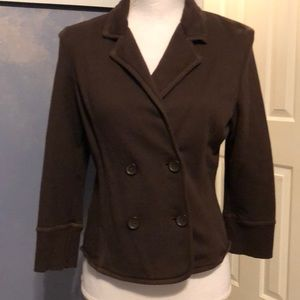 Express brown double breasted 4/3 sleeve jacket